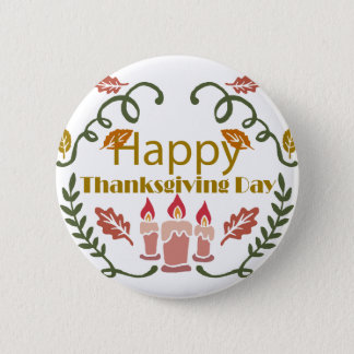 Happy Thanksgiving Fall Festival 2 Inch Round Button