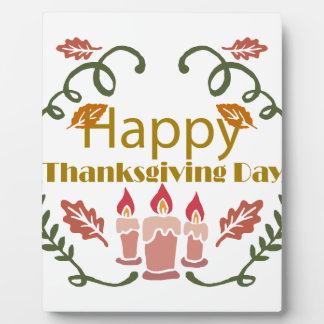 Happy Thanksgiving Fall Festival Plaque
