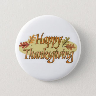 Happy Thanksgiving Fall Leaves 2 Inch Round Button