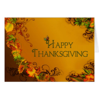 Happy Thanksgiving - Fall Leaves - Christian Card