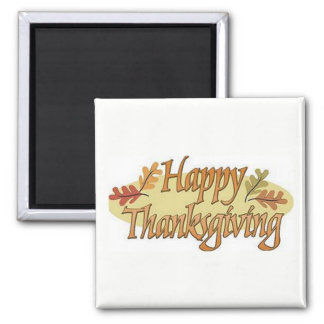 Happy Thanksgiving Fall Leaves Magnet