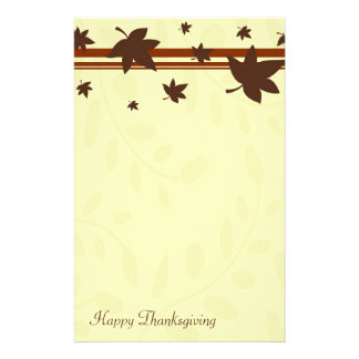 Happy Thanksgiving Fall Leaves Stationery