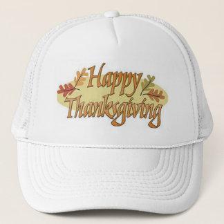 Happy Thanksgiving Fall Leaves Trucker Hat