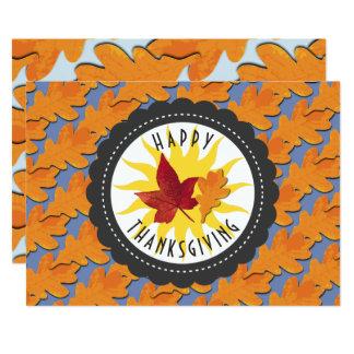 Happy Thanksgiving Fall Oak Leaf Card