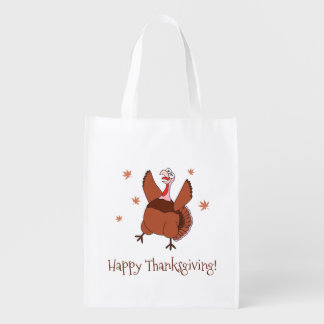 Happy Thanksgiving Funny Turkey Grocery Bag