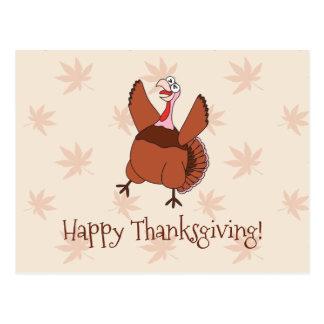 Happy Thanksgiving Funny Turkey Postcard