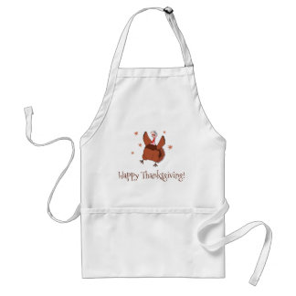 Happy Thanksgiving Funny Turkey Standard Apron