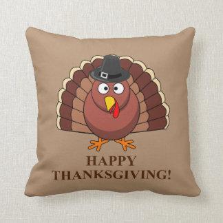 Happy Thanksgiving, Funny Turkey Throw Pillow