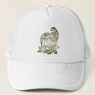 Happy Thanksgiving Golden Cornucopia Trucker Hat