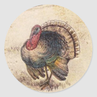 Happy Thanksgiving Greetings Classic Round Sticker