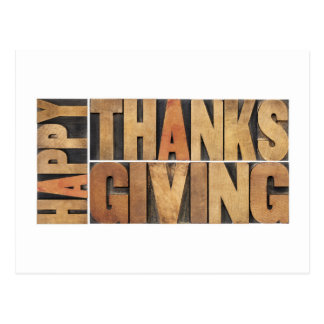Happy Thanksgiving - Greetings Or Wishes Postcard