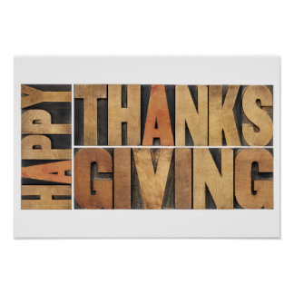 Happy Thanksgiving - Greetings Or Wishes Poster