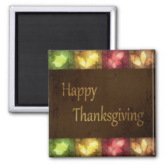 Happy Thanksgiving Grunge Leaves - Magnet