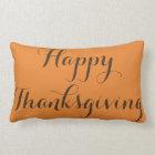 Happy Thanksgiving -Happy Halloween Reversible Lumbar Pillow