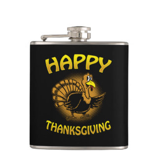 Happy Thanksgiving Hip Flask