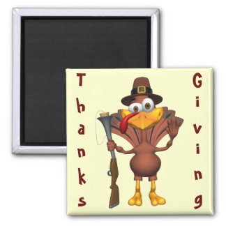 Happy Thanksgiving Holiday Turkey Magnet