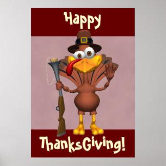 Happy Thanksgiving Holiday Turkey Print