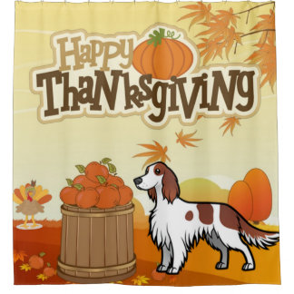 Happy Thanksgiving Irish Red and White Setter