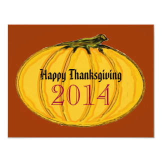 """Happy Thanksgiving jGibney The MUSEUM Zazzle Gifts 4.25"""" X 5.5"""" Invitation Card"""