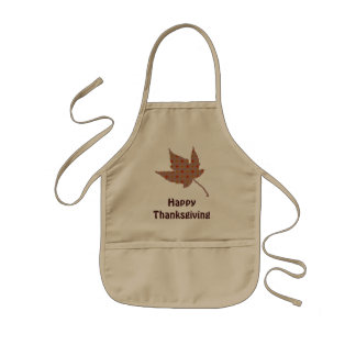 Happy Thanksgiving Leaf Kids Apron