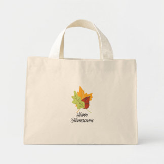 Happy Thanksgiving - Leaves Tiny Tote Bag