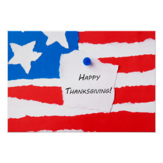 Happy Thanksgiving Notepad Poster
