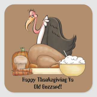 Happy Thanksgiving old buzzard sticker