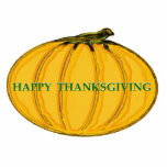 Happy Thanksgiving Ornament Acrylic Cut Outs