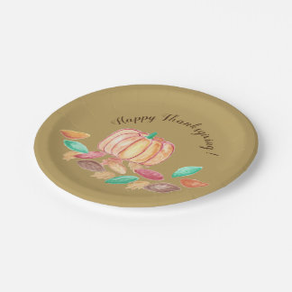 Happy Thanksgiving paper plates