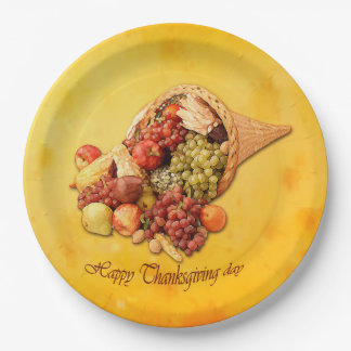 Happy Thanksgiving paper plates. Paper Plate