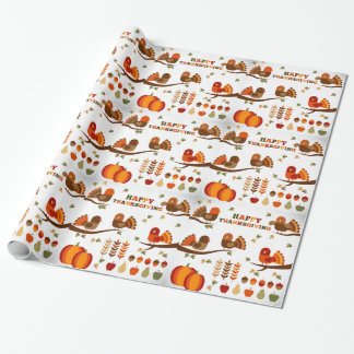 Happy Thanksgiving Pattern Wrapping Paper