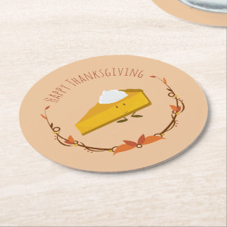 Happy Thanksgiving Pie Slice | Coaster