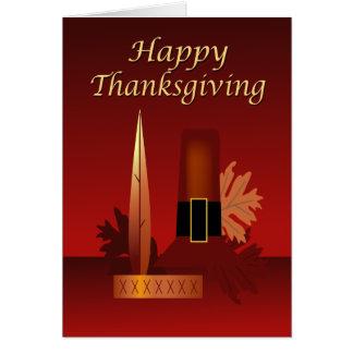 Happy Thanksgiving Pilgrim & Indian Greeting Card