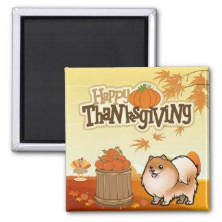 Happy Thanksgiving Pomeranian Magnet