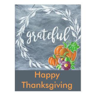 Happy Thanksgiving postcard 2