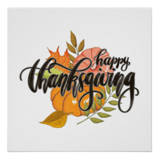 Happy Thanksgiving Poster