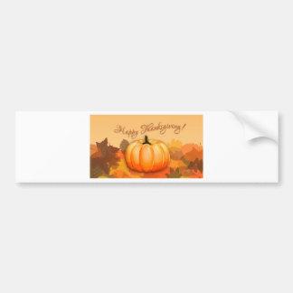 Happy Thanksgiving Pumpkin Bumper Sticker