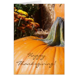 Happy Thanksgiving Pumpkin Card with poem
