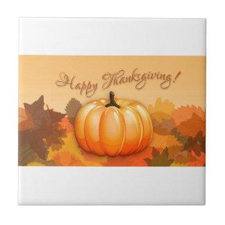 Happy Thanksgiving Pumpkin Ceramic Tiles
