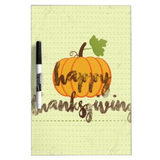 Happy Thanksgiving pumpkin Dry-Erase Whiteboard