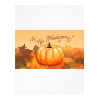 Happy Thanksgiving Pumpkin Letterhead