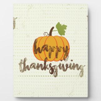 Happy Thanksgiving pumpkin Plaque