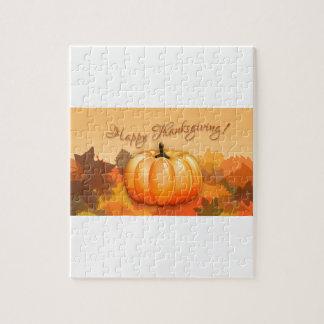 Happy Thanksgiving Pumpkin Puzzle
