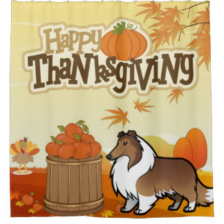 Happy Thanksgiving Rough Collie