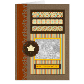 happy thanksgiving (scrapbook) card