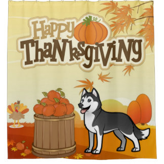 Happy Thanksgiving Siberian Husky