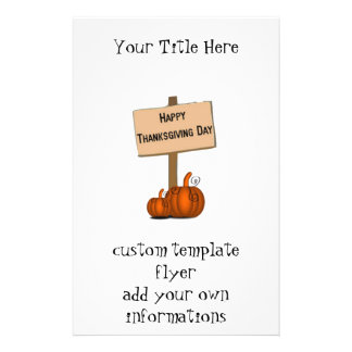 Happy Thanksgiving Sign Full Color Flyer