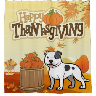 Happy Thanksgiving Staffordshire Bull Terrier