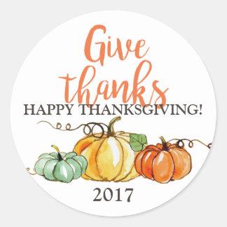 Happy Thanksgiving sticker pumpkins