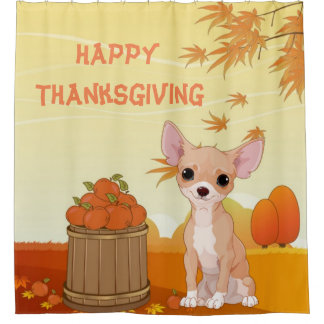 Happy Thanksgiving Tan Chihuahua